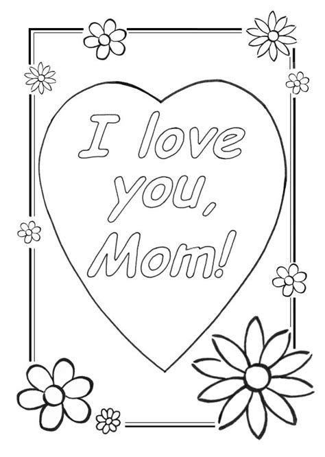 cool coloring sheets love  mom coloring pages cool