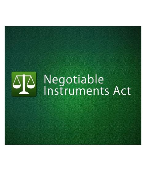 non negotiable instrument act