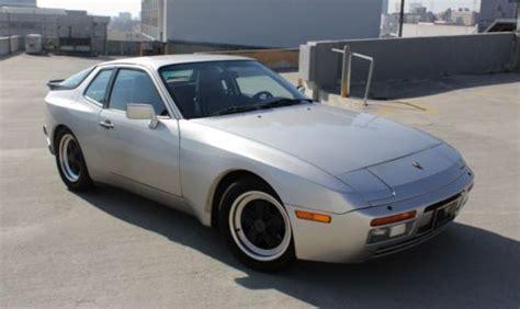 porsche 944 silver purchase used 1986 silver porsche 944 turbo sun roof in