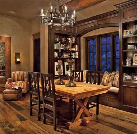 Find the dining room table and chair set that fits both your lifestyle and budget. Dining room ideas: Rustic dining room - HOUSE INTERIOR