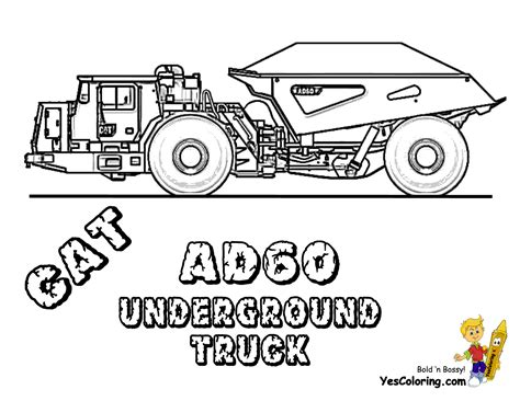Digging Free Construction Coloring Pages Excavator