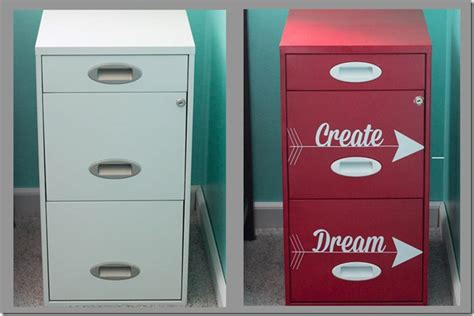 file cabinet makeover  heart planners
