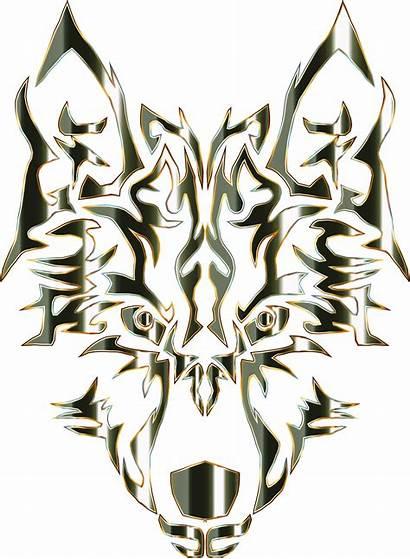 Wolf Tribal Clipart Head Transparent Obsidian Gray