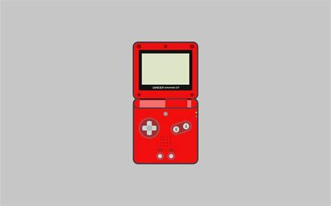 nintendo game boy advance sp wallpaper red