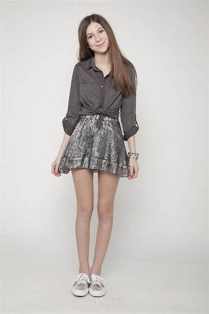 Tween Skirt Outfits Teen Converse Preteen Short