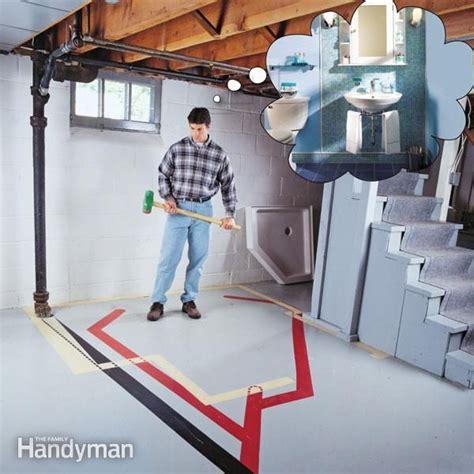 how to plumb a basement bathroom basements basement
