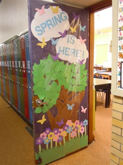 my classroom door decorated for spring classroom doors