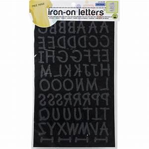 soft flock iron on letters 1quot lemonade black With soft flock iron on letters