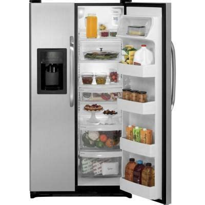 ge  cu ft side  side refrigerator  cleansteel model gsljgdls   refrigerator