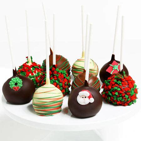 christmas cake pops by gourmetgiftbaskets com