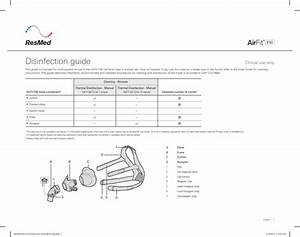 Resmed Airfit F30 Disinfection Guide Sept 2018 Pdf Download