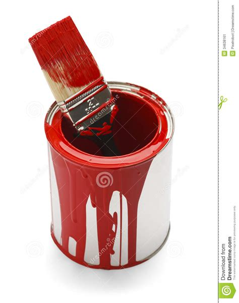 Empty Paint Can Stock Image Image Of Brush, House, Above