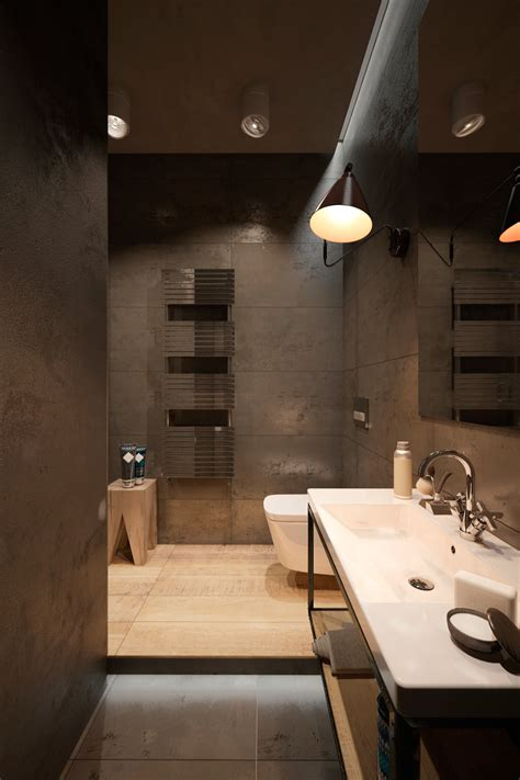 industrial bathroom design industrial homes minimalist decor home interior