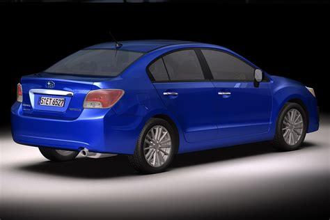 2012 Subaru Impreza G4 3d Model