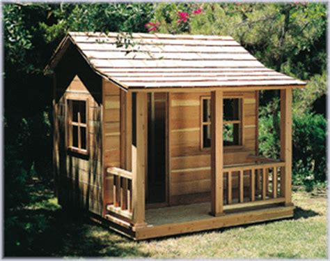 playhouse  porch woodworking project paper plan