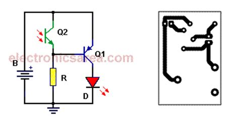 Automatic Night Light Circuit With One Led Electronics Area