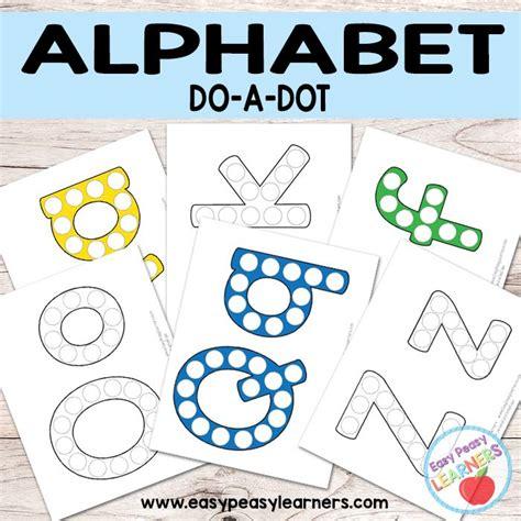 alphabet   dot printables   dot dot marker