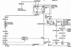 Wireing Diagram Of The Fuel Pump Curcuit On A 1999 Chevy