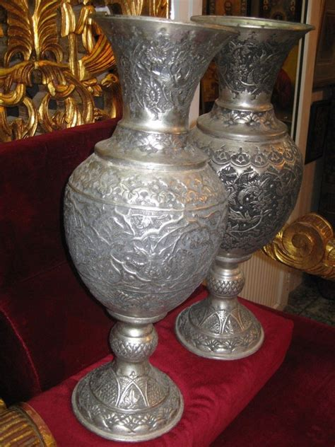 decorative vases for sale handmade set of alpaca vases from jerusalem for sale antiques classifieds