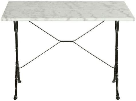 table cuisine marbre table rectangulaire en marbre et métal noir java vente