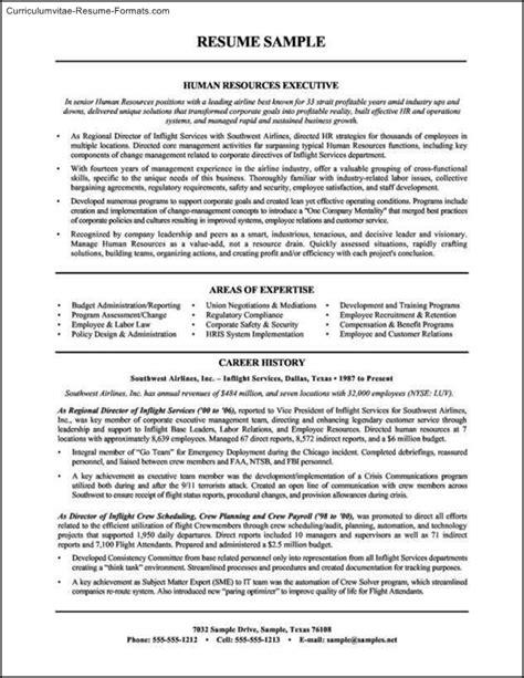 human resource resume templates free sles exles