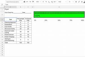 how to create percentage progress bar in google sheets With google docs spreadsheet percentage