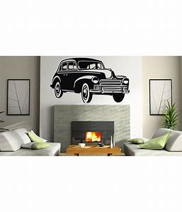 Decor kafe vintage car wall decal buy