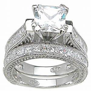 The diamond wedding ring sets wedding ideas and wedding for Wedding ring engagement ring set