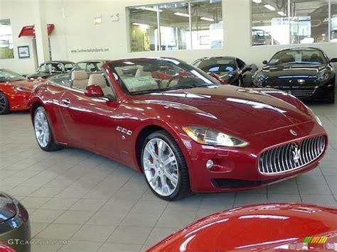 red maserati convertible rosso trionfale red 2012 maserati granturismo
