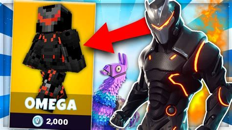Skin Omega De Fortnite Dans Minecraft !