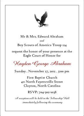 eagle scout court  honor invitations classic scout
