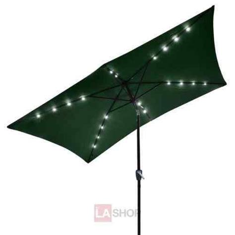 10 beautiful rectangular patio umbrella with solar lights