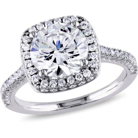 5 carat t g w cz sterling silver halo engagement ring walmart