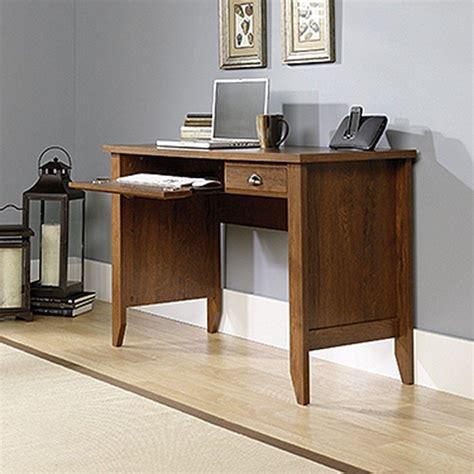 desk slide out shelf sauder shoal creek collection oiled oak computer desk with