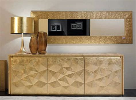 this fendi credenza with gold l and mirror is
