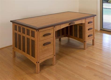 custom  craftsman desk  hefner woodworking sorkin