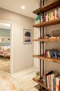 Meuble Bois Brut : meuble tag re bois brut id es de d coration int rieure french decor ~ Teatrodelosmanantiales.com Idées de Décoration