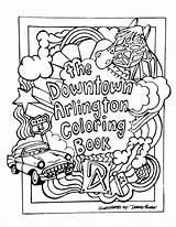 Arlington Downtown Coloring Celebrates Spaces sketch template