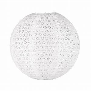 Boule Papier Luminaire : suspension boule blanche songe maisons du monde ~ Teatrodelosmanantiales.com Idées de Décoration