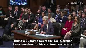 Confirmation hearing for Trump's Supreme Court pick begins