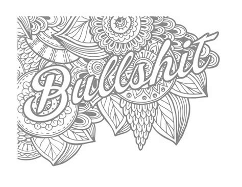 bullshit coloring for 18 adult coloring pages free