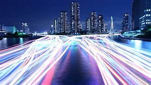 wallpaper city light river 4k 8k architecture