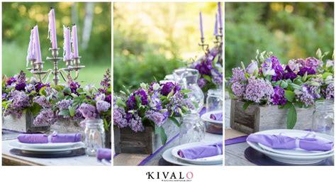 Lilac Decorations Wedding Tables - rustic wedding inspiration maine wedding photography
