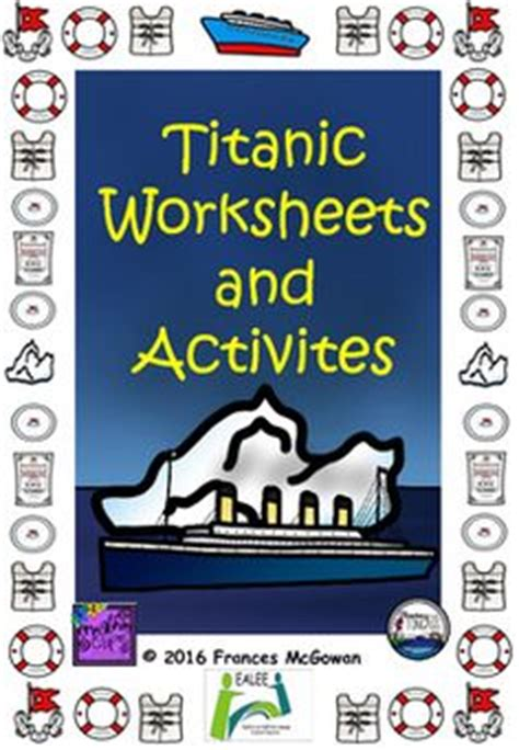 school titanic lesson plans images
