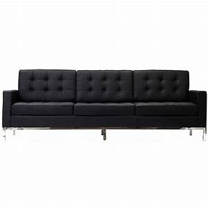 Florence knoll style sofa couch leather for Couch florence sofa