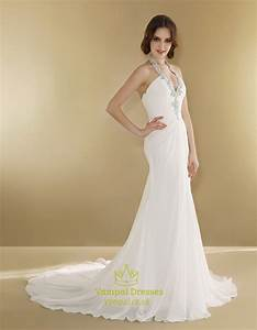halter wedding dress with long trainsimple halter neck With simple halter wedding dress