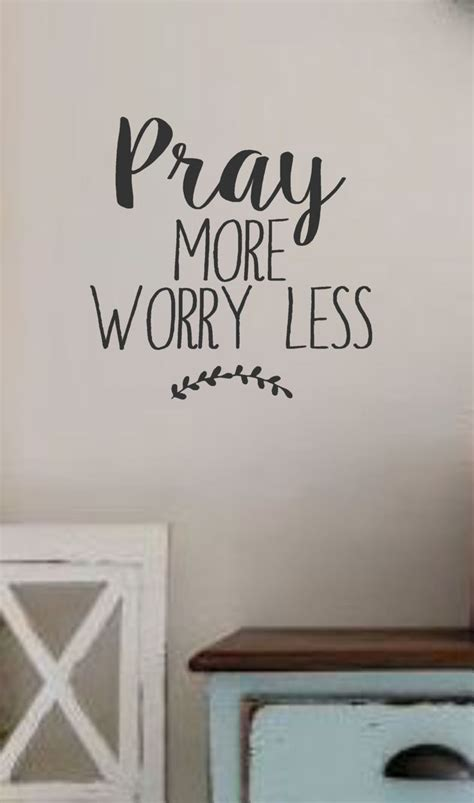 pray  worry  vinyl wall decal wall quotes bible