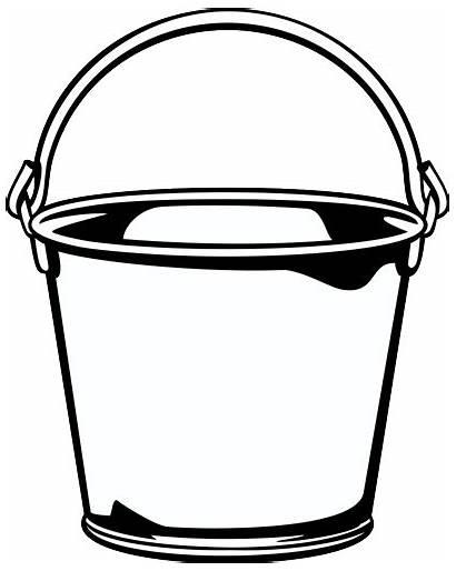 Bucket Clip Clipart Pail Cliparts Clipartix Transparent