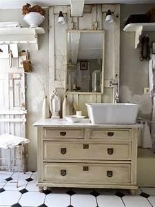 Waschbecken Retro Design : vintage badezimmer schrank mit integriertem waschbecken vintage badezimmer pinterest ~ Markanthonyermac.com Haus und Dekorationen