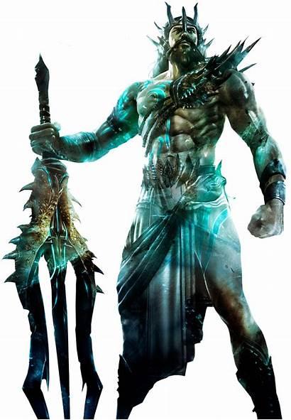 Poseidon Transparent God War Kratos Young Sticker